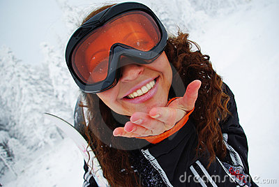 Happy Female Skier Royalty Free Stock Images - Image: 11696179
