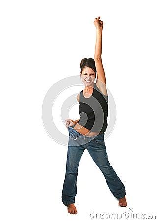 Happy Female Who Met Goal