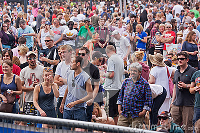 Happy Festival Crowd Royalty Free Stock Images - Image: 25834139