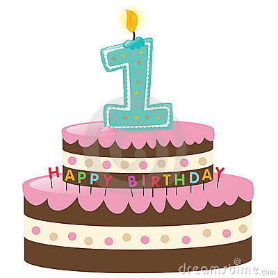 Free Happy First Birthday Cake Royalty Free Stock Images - 9945709