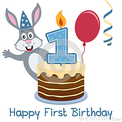 First Birthday Bunny Rabbit