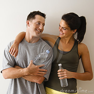 Free Happy Fitness Couple Royalty Free Stock Images - 4415609