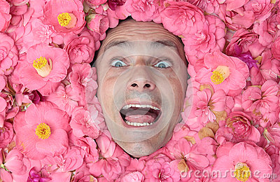 Happy flower man