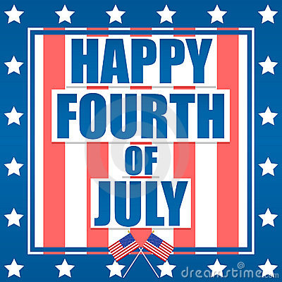 Free Happy Fourth Of July Royalty Free Stock Photography - 19919397
