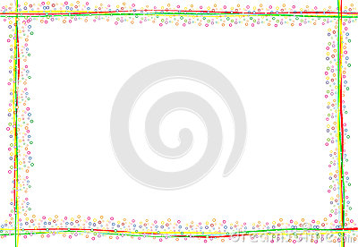 simple happy and colorful frame with many round confetti for a ...