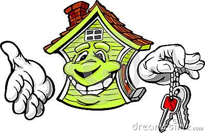 Happy Friendly House Holding Keys