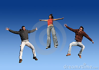 Happy Friends Jumping
