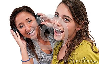 Happy Friends listen music