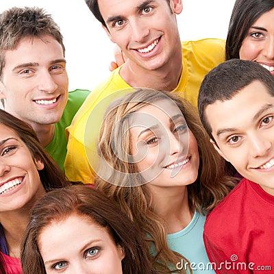 Happy friends portrait
