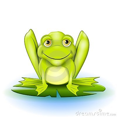 Happy Frog on Lilypad