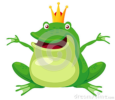 Happy frog prince
