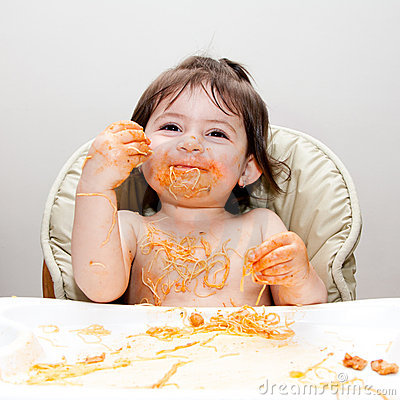 Happy fun messy eater