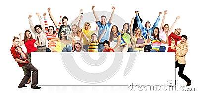 Happy funny people Stock Photo