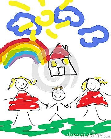 Happy gay family