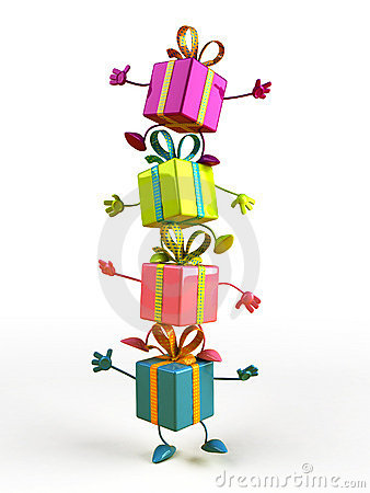 Free Happy Gifts Stock Images - 3493784