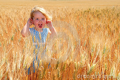 Happy Girl in Durum Wheat