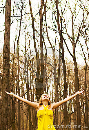 Free Happy Girl Enjoying Nature Stock Photos - 14162843