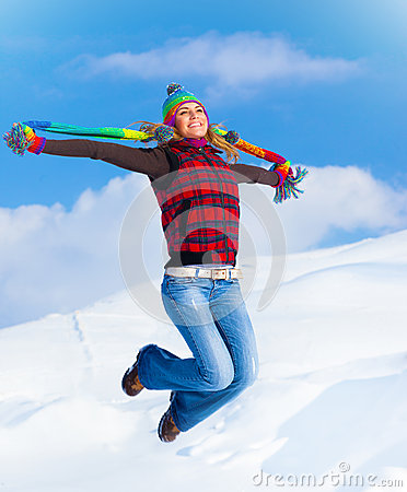 Free Happy Girl Jumping Royalty Free Stock Image - 28193026