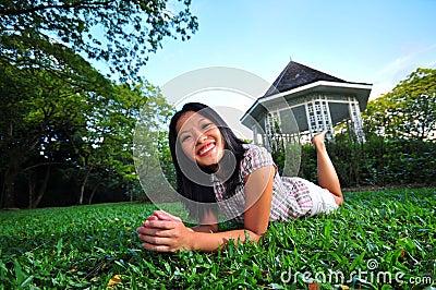 Happy Girl in the Park 11
