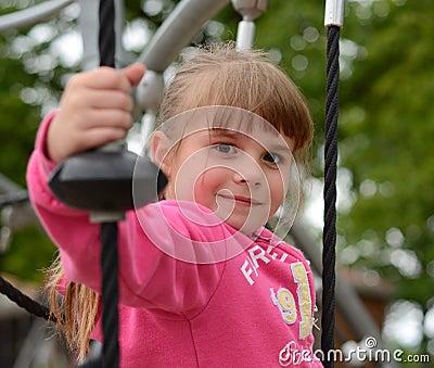 Happy girl on playground