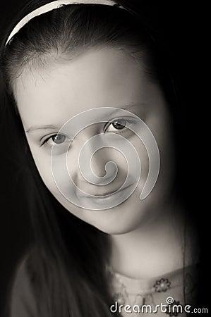 Happy girl portrait