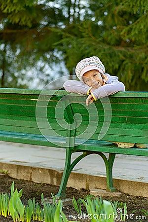 Happy girl-preschooler