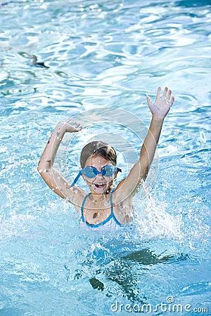 Free Happy Girl Splashing In Swimming Pool Stock Images - 16923974
