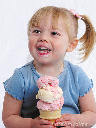 Free Happy Girl With Ice Cream Stock Photography - 624422