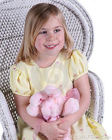 Free Happy Girl With Teddy Bear Royalty Free Stock Photos - 4872858