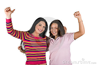 Happy girls successful