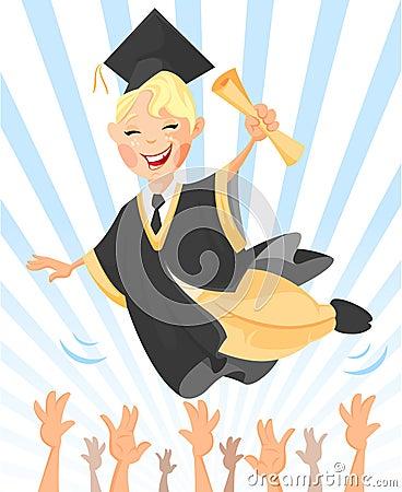 Happy graduated
