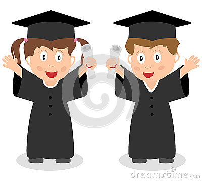 Happy Graduated Kids Royalty Free Stock Images - Image: 25998829