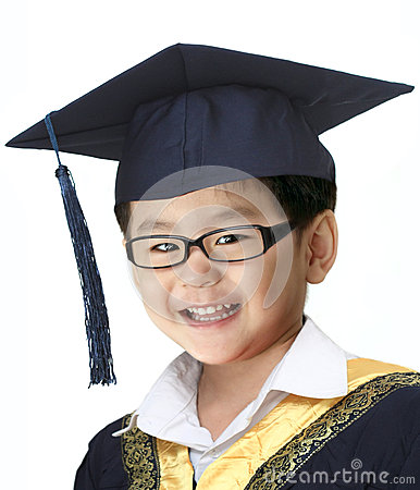 Happy graduation boy