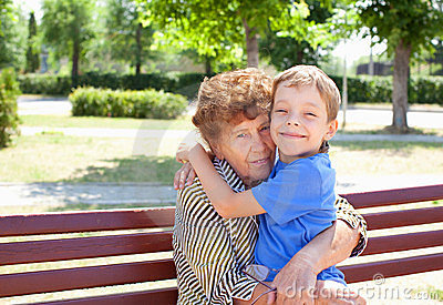 Happy grandmother with grandchild