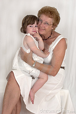 Happy Grandmother and Granddaughter (3)