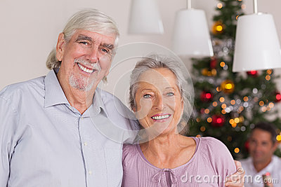 Happy grandparents at christmas