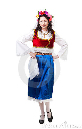 Happy Greek dancer