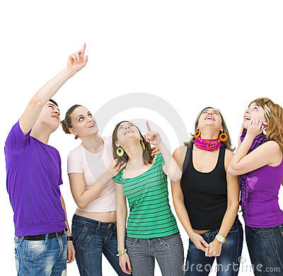 Free Happy Group Of Teenagers Stock Photo - 7902890
