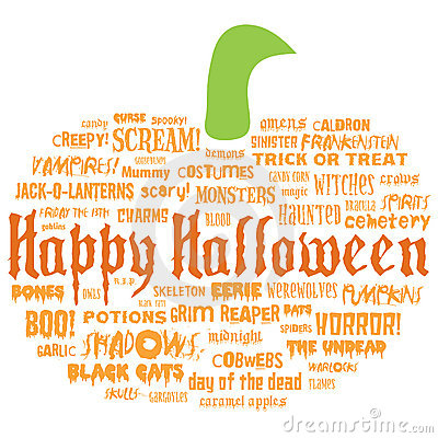 Free Happy Halloween And Other Scary Words Stock Photography - 10642322