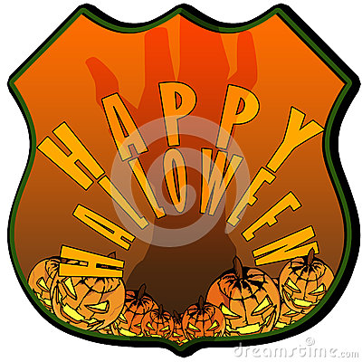 Happy Halloween badge