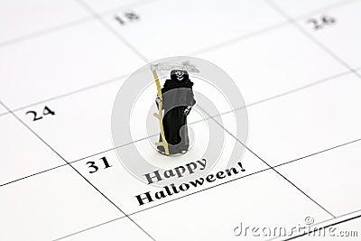 Happy Halloween on a calendar date