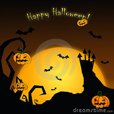 Free Happy Halloween Card Stock Photo - 12999700