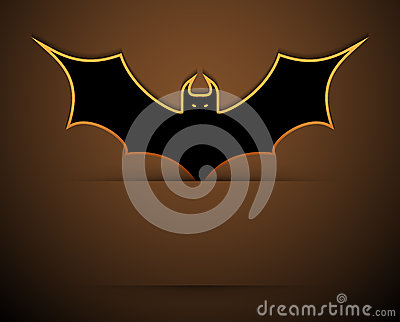 Happy halloween card with bat.