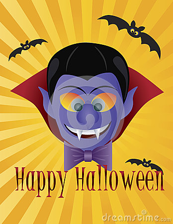 Happy Halloween Count Dracula Illustration