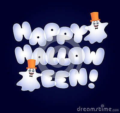 Free Happy Halloween Fat Letters Ghosts Stock Photo - 78233060