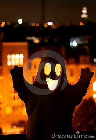 Happy Halloween Ghost Royalty Free Stock Images - Image: 3415139
