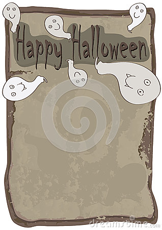 Happy Halloween Ghost Came Out Paper_eps