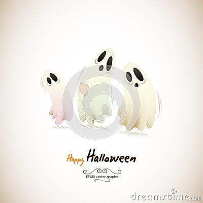 Happy Halloween Ghosts
