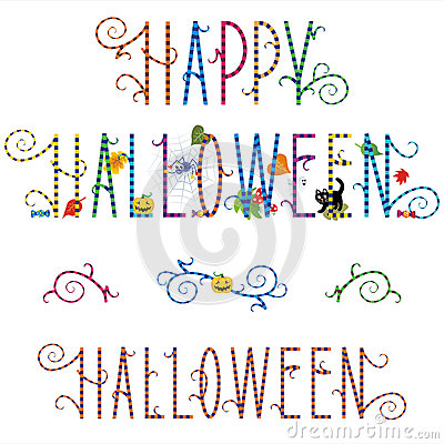 Happy Halloween greeting text