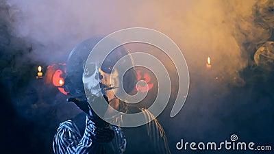 Happy Halloween Jack-o-lantern Congratulation stock footage